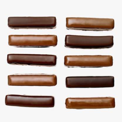 Lubecker marsepein omhuld door chocolade van Puccini Bomboni