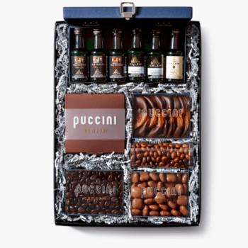 Luxe chocolade geschenkdoos met 6 flesjes port