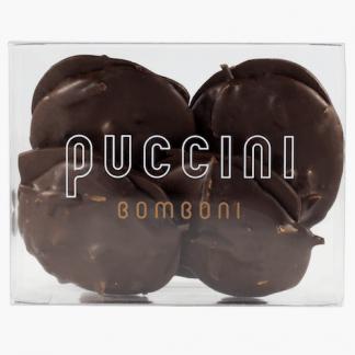 Suikervrije pure chocolade slabs met stukjes geroosterde amandelen