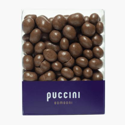 Red Honey Honduras Coffee beans enrobed in 34% Suikervrij Chocolade