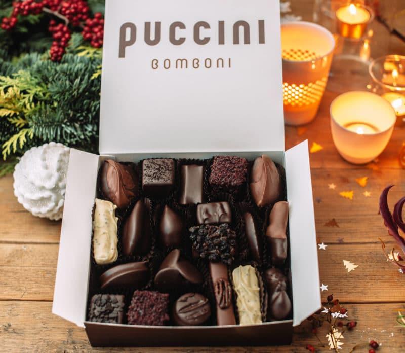 Large 20 bonbon box Christmas themed
